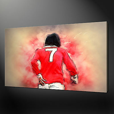 £21.89 • Buy George Best Canvas Print Art Picture Print Free Fast Uk Delivery