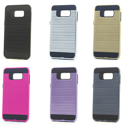 $ CDN27.24 • Buy Lot/6 Brushed Finish Hybrid Case For Samsung Galaxy S6 Edge Plus Wholesale