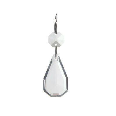 £11 • Buy Replacement Chandelier Crystal Effect Droplet 1 Small 1 Large Bead Litecraft