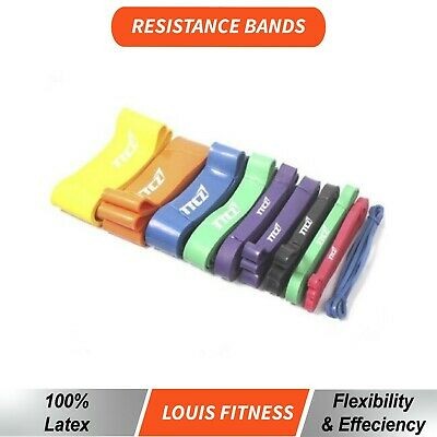 AU53.01 • Buy OZ Heavy Duty Strength RESISTANCE POWER BANDS Home Gym Fitness Workout Yoga Loop