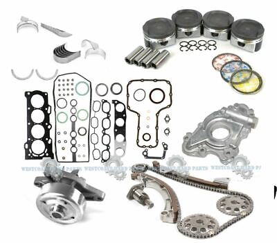 $299.95 • Buy 00-08 Toyota Corolla Matrix 1.8l 1zzfe Dohc Master Engine Rebuild Kit *graphite*