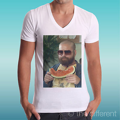 T-Shirt V Neck Jersey Alan Watermelon A Night From Leoni The Hangover Gift Idea • 20.33£