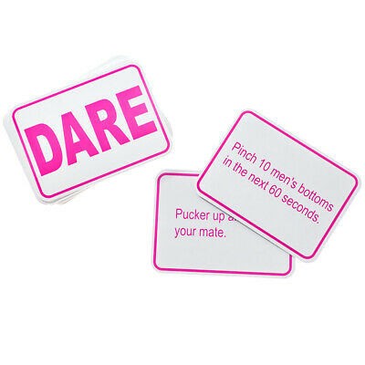 24 Dare Cards Hen Party Games Hen Night Accessories Party Bag Fillers Favours • 2.75£
