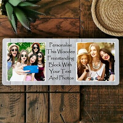 £9.99 • Buy 10x4  Personalised Photo Block Family Friend Dad Grandad Nanna Aunt Mother Gift