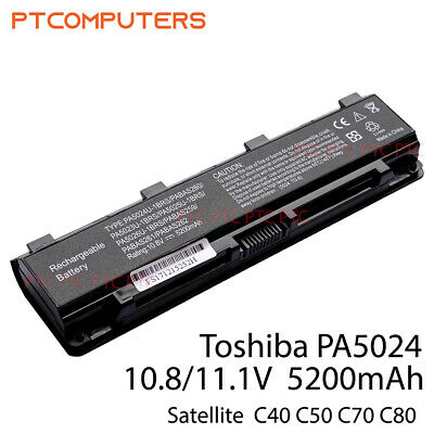 AU38.50 • Buy Battery For Toshiba Satellite C850 L800 PABAS260, PA5024U-1BRS, PA5025U-1BRS