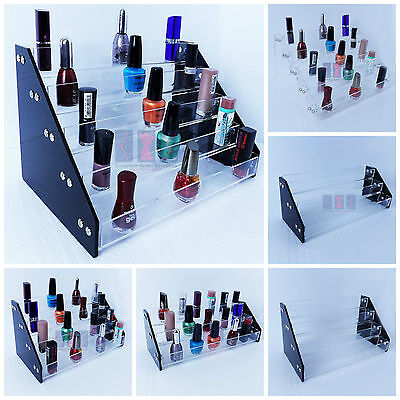 £14.94 • Buy Acrylic Nail Polish Tiers Cosmetic Varnish Display Stand Organizer(Clear Sides)
