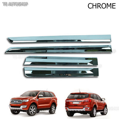 Chrome Line Side Door Cladding Molding For Ford Everest Suv 2.2 3.2 2016 2017 • 72.89$
