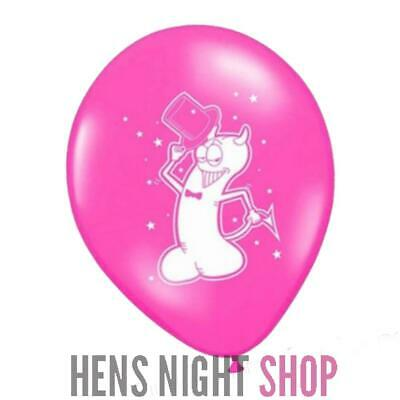 AU1 • Buy Pink Hens Night Bachelorette Party Decoration Devil Willy Balloon X 1