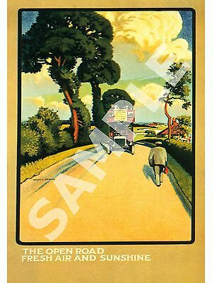 £3.99 • Buy The Open Road : Vintage Travel Advertising  , Poster, Wall Art.