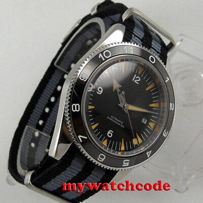 $ CDN114.70 • Buy 41mm CORGUET Black Dial Ceramic Bezel Sapphire Glass Miyota Automatic Mens Watch
