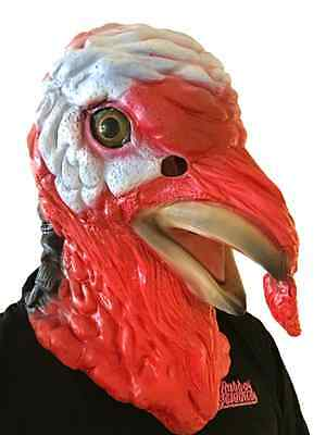 Deluxe Turkey Mask Animal Head Rooster Chicken Fancy Dress Christmas Costume • 16.97£