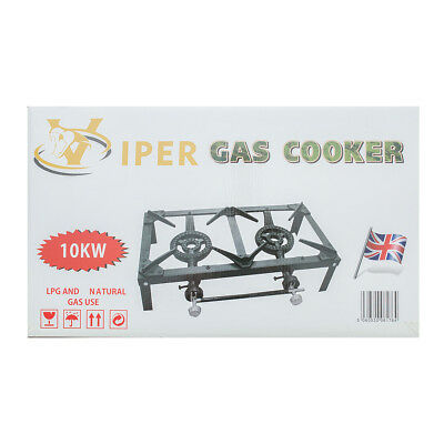 £40.99 • Buy Viper Gas Boiling Ring Catering Lpg Burner Outdoor Double Kitchen Cooker 10kw