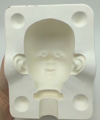 $ CDN33.31 • Buy Porcelain Doll Head Mold 829 H Doll Making Parts Casting Baby Grinning Smiling