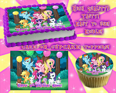 My Little Pony Edible Cake Toppers Image Sheet Sugar Paper Birthday Picture Idea O 1000