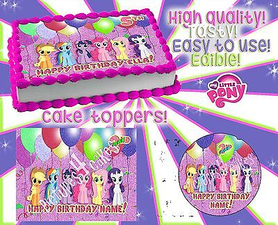 2 My Little Pony Birthday Cake Toppers Edible Picture Decorations Party Sugar O 1500