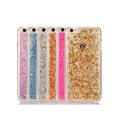AU4.95 • Buy GOLD Glitter Bling Gel TPU Silicone Case Cover For Apple IPhone 5 SE 6 6S 7 8 X
