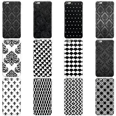 Black & White Pattern Collection Hard Case Cover For Apple Iphone Mobile Phones • 4.95£