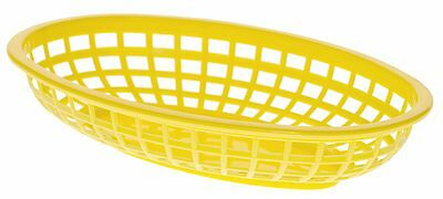 £6.99 • Buy Classic Oval Food Basket Yellow 24cm X3/6/12/24/36 Burgers Fries Hot Dogs