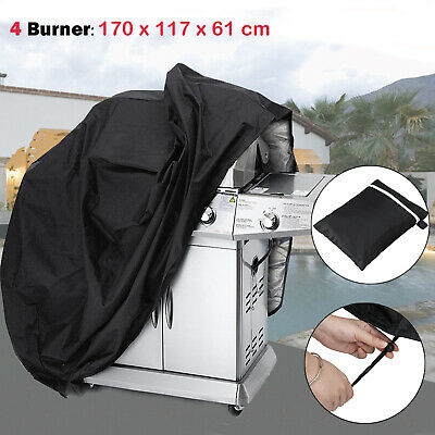 AU17.99 • Buy BBQ Cover 4 Burner Waterproof UV Gas Charcoal Barbecue Grill Protector