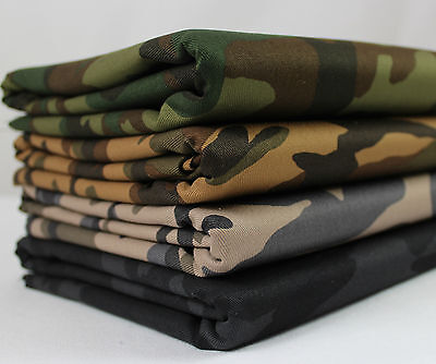 £10.95 • Buy Camo 100% Cotton Twill Fabric Camouflage Army Military Drill