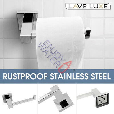 AU26 • Buy Chrome Stainless Steel Bathroom Toilet Paper Roll Holder Hook Bar Washroom Wall