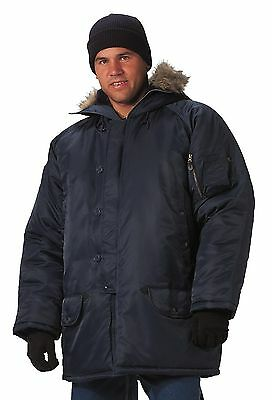 $ CDN109.72 • Buy ROTHCO N-3B Insulated Snorkel Parka W/Hood Style 9394 Navy Blue Size S TO 3X