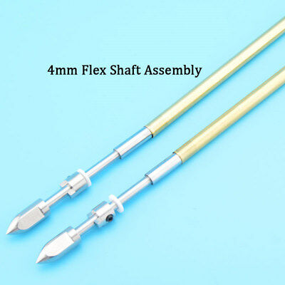A Pair 4mm Soft Shaft Assembly Racing Brushless Electric Flexshaft Rc Boat #1185 • 25.99£