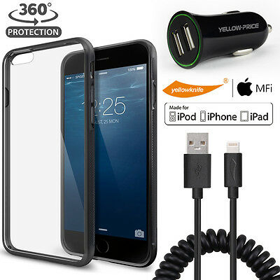 AU21.85 • Buy Hard Grip Matte Bumper Case For Iphone 6 6s Sync Lightning Cable USB Car Charger