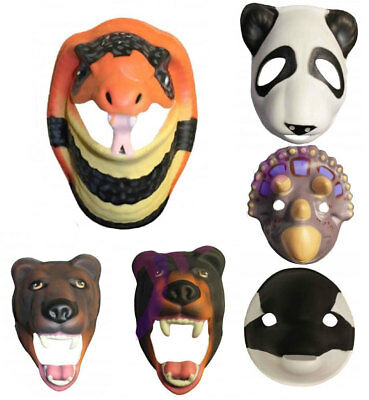 Adutls Plastic Animal Head Cosplay Masquerade Fancy Dress Props Carnival Mask • 3.45£