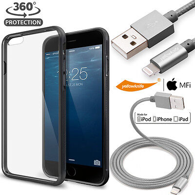 AU21.85 • Buy For Iphone 6 6s Lightweight Thinfit Non Slip Case + Certified Sync Charger Cable