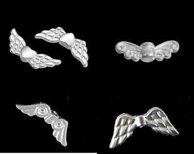 £0.99 • Buy ❤ BRIGHT Silver Plated ANGEL WING Spacer Beads Choose Design Jewellery Making ❤