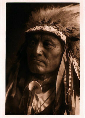 £3.99 • Buy Native American Indian Chief Portrait Crazy Thunder Photo Art Print Picture