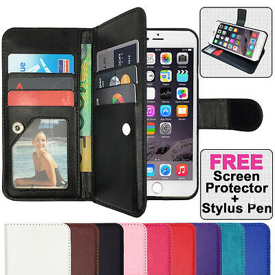 AU9.75 • Buy Leather Flip Stand Case Magnetic Wallet PU Gel Cover For Apple IPhone 7, 7 Plus