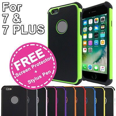 AU6.95 • Buy Shockproof Heavy Duty Armor Shock Proof Case Cover For Apple IPhone 7 & 7 Plus