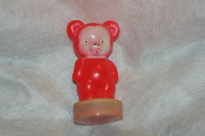ANTIQUE~RED BEAR With PINK FACE TAPE MEASURE~CELLUOID,Measuring,figural,NOVELTY • 109.71£