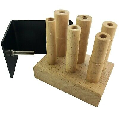 £20.99 • Buy  Ring Mandrel Wire Wrapping Multi Stepped Wooden Jewellery Craft Tool 3-14 Size