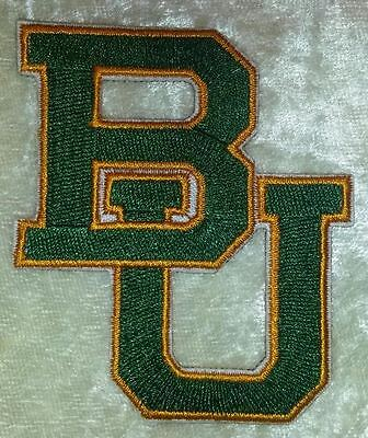 $4.95 • Buy Baylor University BU 2.75  Iron On Embroidered Patch ~FREE Ship!!