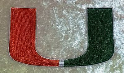 $4.95 • Buy University Of Miami 3.50  Iron On Embroidered Patch ~FREE Ship!!