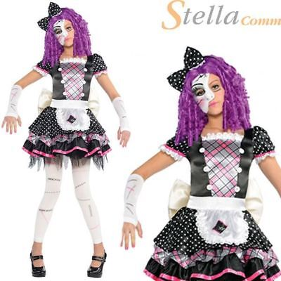 £14.99 • Buy Girls Damaged Doll Costume Halloween Manequin Fancy Dress Child Outfit