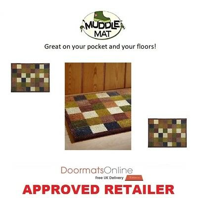 £19.99 • Buy Muddle Mat From The Home Of Hug Rug 75x50cm (CHECK 1 ) Door Mat Washable