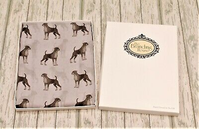 Boxer Dog Print Scarf For Women, Boxer Dog Gifts, Ladies Boxer Dog Scarf, New • 19.95£