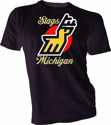 $19.99 • Buy MICHIGAN STAGS DEFUNCT WHA HOCKEY VINTAGE STYLE  T-SHIRT Handmade Jersey Mens