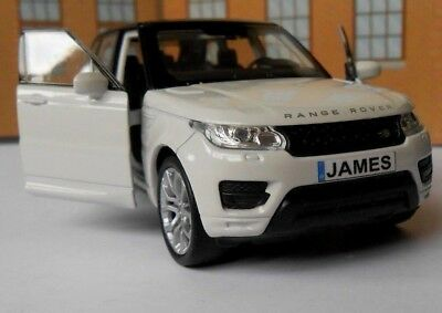 PERSONALISED PLATES RANGE ROVER SPORT Toy Car MODEL Boy Dad VALENTINE Gift NEW • 12.95£