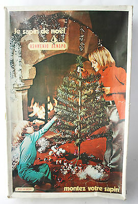 $ CDN101 • Buy RARE VINTAGE 60'S GREEK CHRISTMAS TREE 1.40m/55  IN BOX GREECE NEW INCOMPLETE