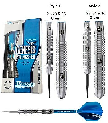 Harrows Genesis Tungsten Steel Tip Darts - Choose 21g 22g 23g 24g 25g Or 26g • 19.95£