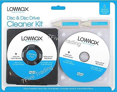 £2.76 • Buy Laser Lens Cleaner Cleaning Kit  PS3 XBOX One/360 BLU RAY DVD PLAYER CD DISC. N