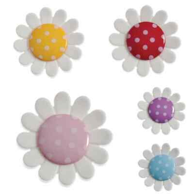 Gorgeous Daisy Flower Shank Buttons 23mm Diameter - Colour Choice - Free Postage • 1.69£