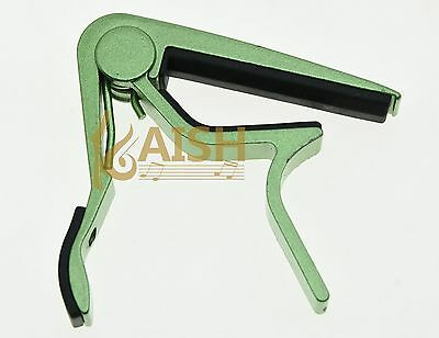 $ CDN7.05 • Buy Green Acoustic Electric Guitar Capo Metal Quick Release Trigger Tune Key Clamp