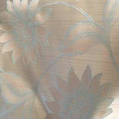 Duck Egg Floral Design Curtain Fabric • 7.50£