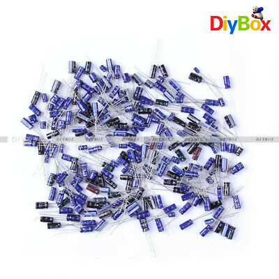 $3.75 • Buy 210Pcs 25 Value 0.1uF-220uF Electrolytic Capacitors Condenser Assortment Kit Set